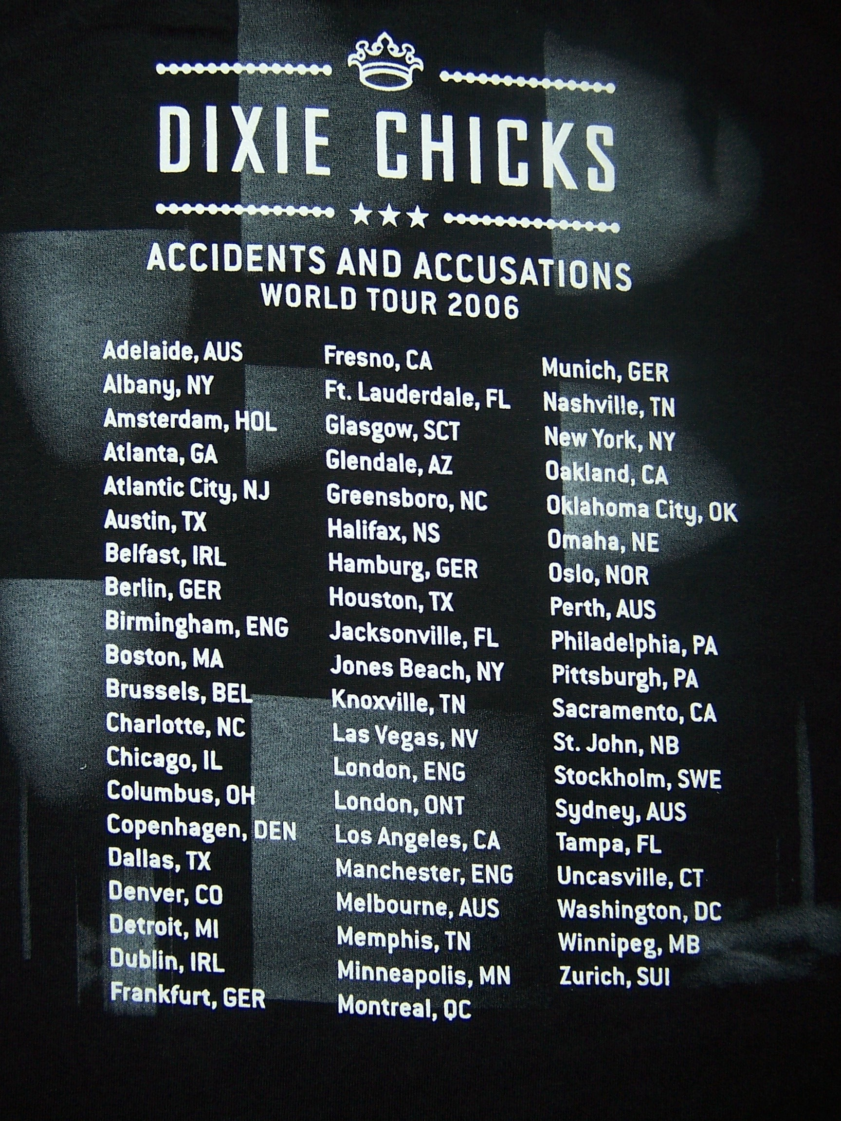 The Cure Tour Schedule