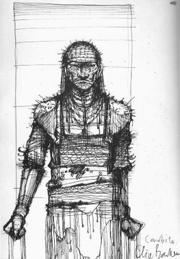 An early Pinhead design by Clive Barker.