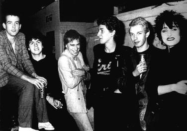 Siouxsie and the Banshees with the Cure. The two groups frequently collaborated. Siouxsie and the banshees 1979 with robert smith.jpg