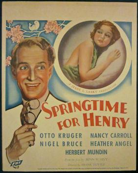Image result for images of nigel bruce in 1931's springtime for henry
