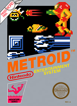 A video game cover. A person in a powered exoskeleton fires a projectile at a monster.