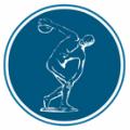 The Panellinios club's famous Discobolus emblem-seal.