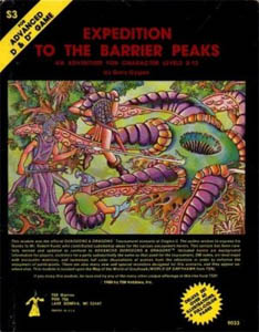 <i>Expedition to the Barrier Peaks</i> Dungeons & Dragons module by Gary Gygax