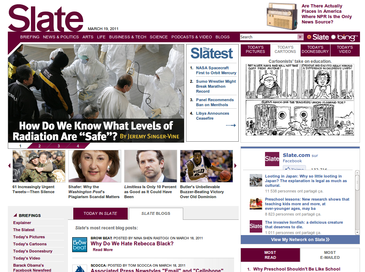 The design of Slate's homepage from 2006 to 2013 Slate screenshot.png