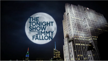 Show title, used since summer 2015 when the NBC peacock replaced the GE sign on the Comcast Building Tonight Show Starring Jimmy Fallon Intertitle.png