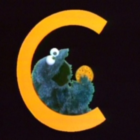 Cookie Monster character from the television series Sesame Street