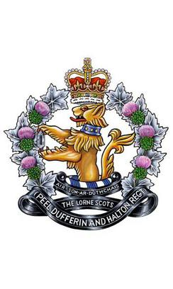 The old cap badge of the Lorne Scots used in till 2016.