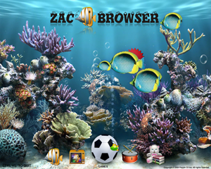 ZAC Browser 1.1.7 running on Windows XP