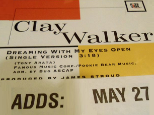 Dreaming with My Eyes Open 1994 single by Clay Walker