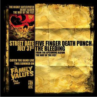 Five Finger Death Punch The Way Of The Fist Album Cover The Bleeding (s...