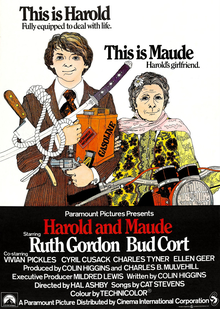 <i>Harold and Maude</i> 1971 American romantic black comedy directed by Hal Ashby