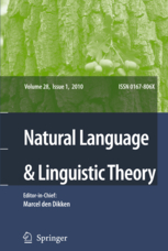 Natural Language and Linguistic Theory