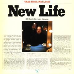 <i>New Life</i> (The Thad Jones/Mel Lewis Orchestra album) 1976 studio album by Thad Jones/Mel Lewis Jazz Orchestra