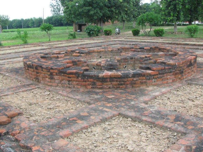 1st/2nd century Buddhist Stupa remains site in Sanghol