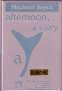 <i>afternoon, a story</i> work of digital literature by Michael Joyce