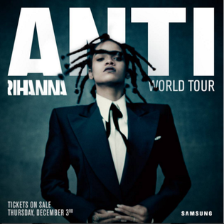 Anti World Tour concert tour by Rihanna