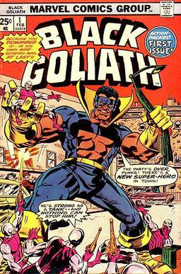 Cover to Black Goliath #1, February, 1976. Art by Rich Buckler