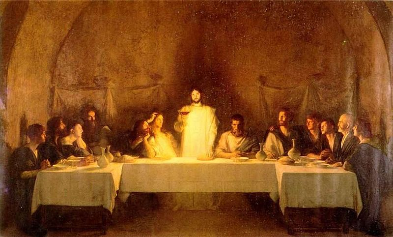 The Last Supper By Bouveret 19th Century