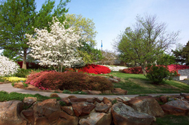 Gilcrease Museum's gardens draw thousands of visitors a year. Gilcreasegardens wiki.jpg