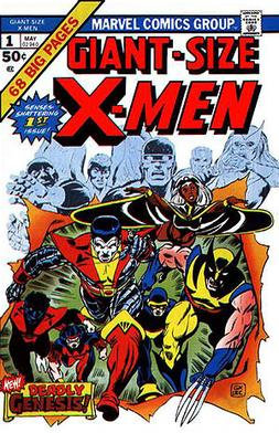 Giant-Size X-Men #1 (May 1975). Cover art by Gil Kane and Dave Cockrum.