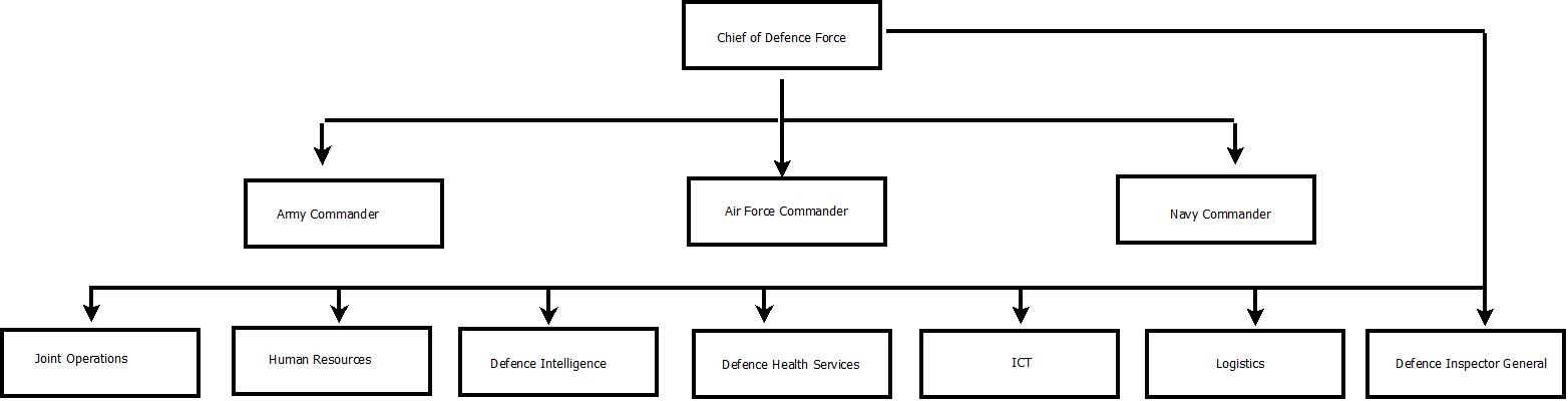Organizational Chart Of A Small Hotel: Namibian Defence Force - Wikipedia,Chart