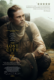 Books Being Made into Movies 2017 : The Lost City of Z