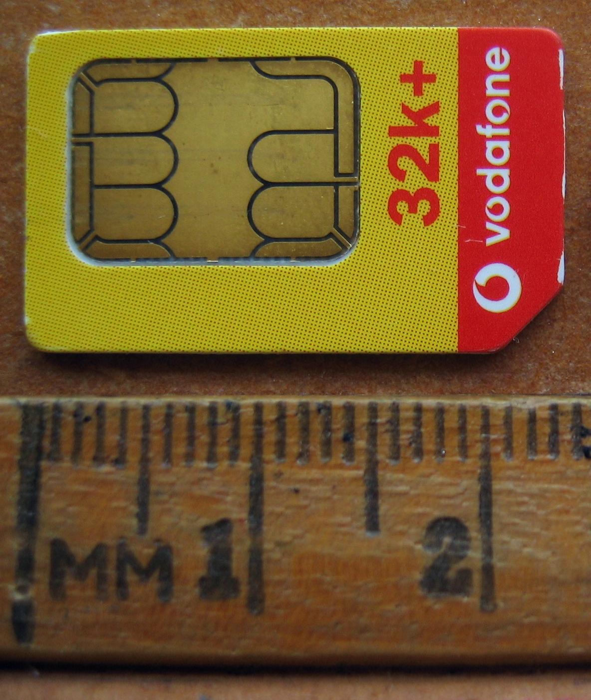 File:Vodafone New Zealand SIM circa 2002 jpeg - Wikipedia