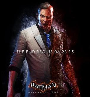 two face in a promotional image for batman arkham knight