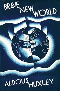 Aldus Huxley's BRave New World First edition book cover