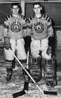 Joe and brother Adam Kryczka (right)  were teammates on the Golden Bears in 1955.[2]