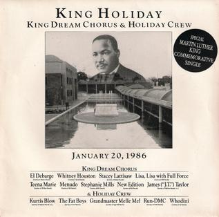 King Holiday 1986 single by The King Dream Chorus and Holiday Crew