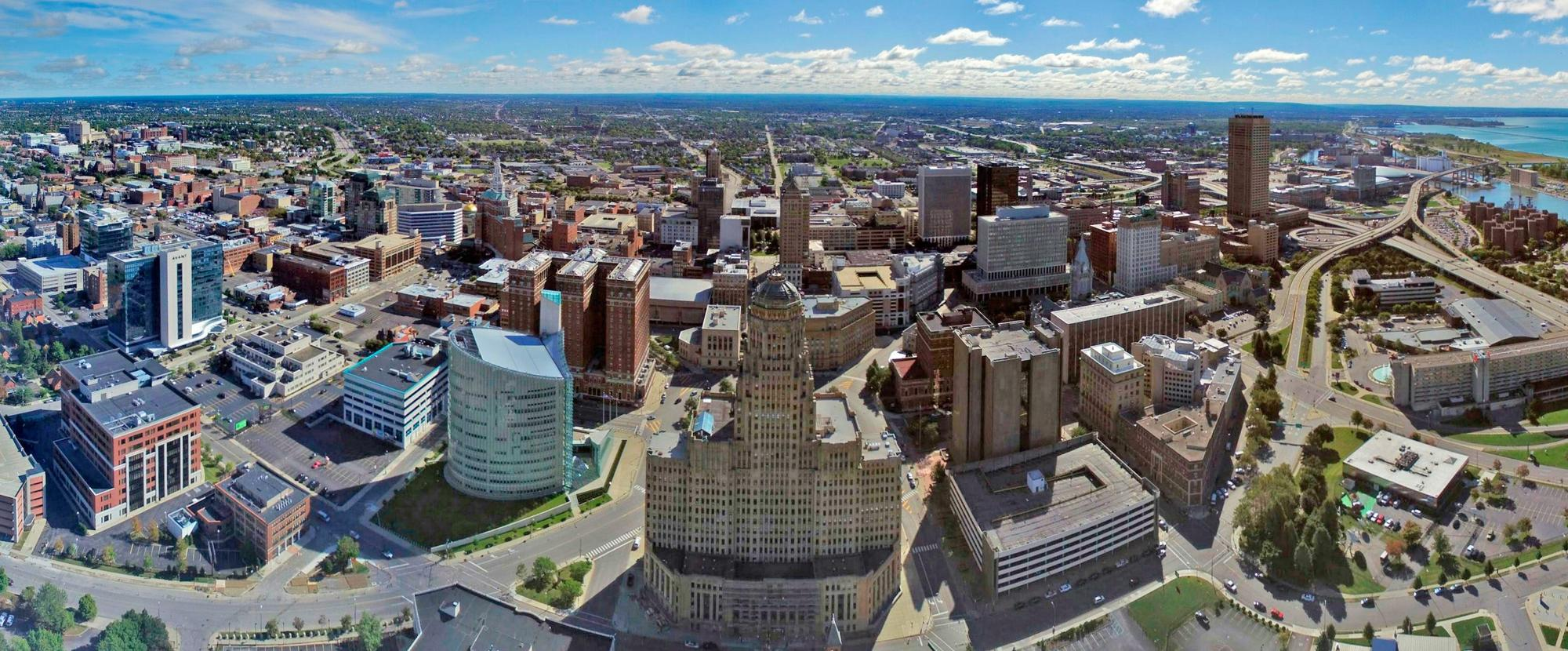 Aerial photo of buffalo ny skyline jpg