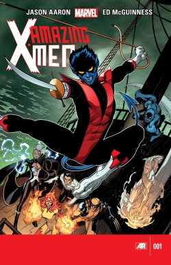 Cover art for Amazing X-Men #1, the flagship title of Wolverine's team. Art by Ed McGuinness.