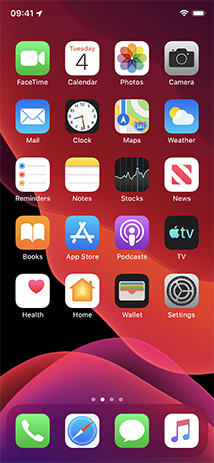 IOS 13 Homescreen iPhone X.png