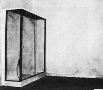 Yves Klein, Le Vide (The Void) displayed at the Iris Clert Gallery (1958)