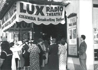 A studio audience gathers prior to a live production at Hollywood's CBS Radio Playhouse, located one block south of Hollywood and Vine at 1615 North Vine Street.
