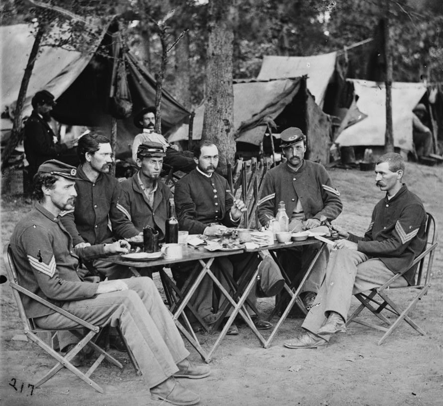 Noncommissioned officers of the 93rd New York Infantry.