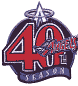 Anaheim Angels 40th season patch