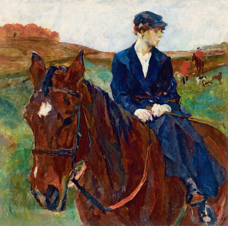 <i>Horsewoman</i> (painting) painting by Rudolf Frentz