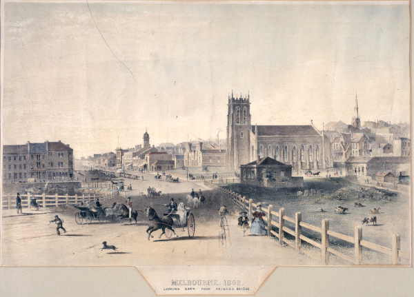 File Melbourne In 1862 From Princes Bridge Jpg Wikipedia