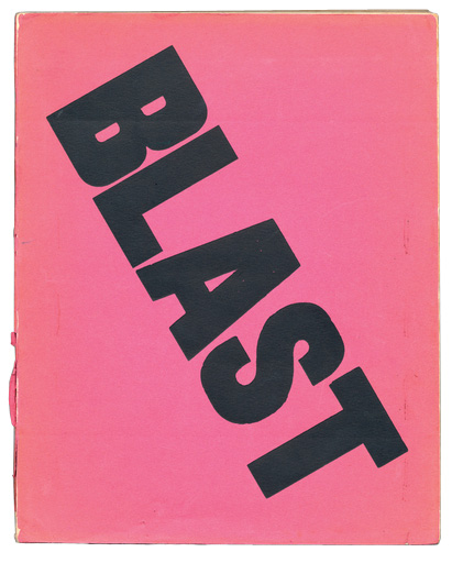 Cover of BLAST, pink background with bold capital letters, the word