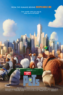 The Secret Life Of Pets 1 2016 US Animation Chris Renaud Louis C.K. Eric Stonestreet Kevin Hart  Animation, Adventure, Comedy