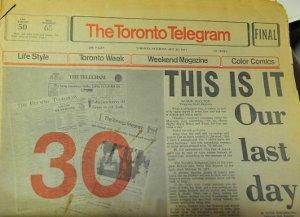 <i>Toronto Telegram</i> Canadian daily newspaper