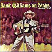 Hank Williams on Stage artwork