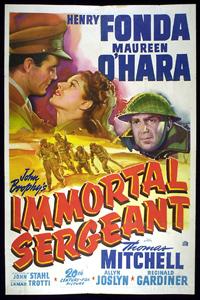 <i>Immortal Sergeant</i> 1943 film by John M. Stahl