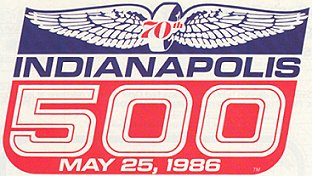 1986 Indianapolis 500 70th running of the Indianapolis 500 motor race