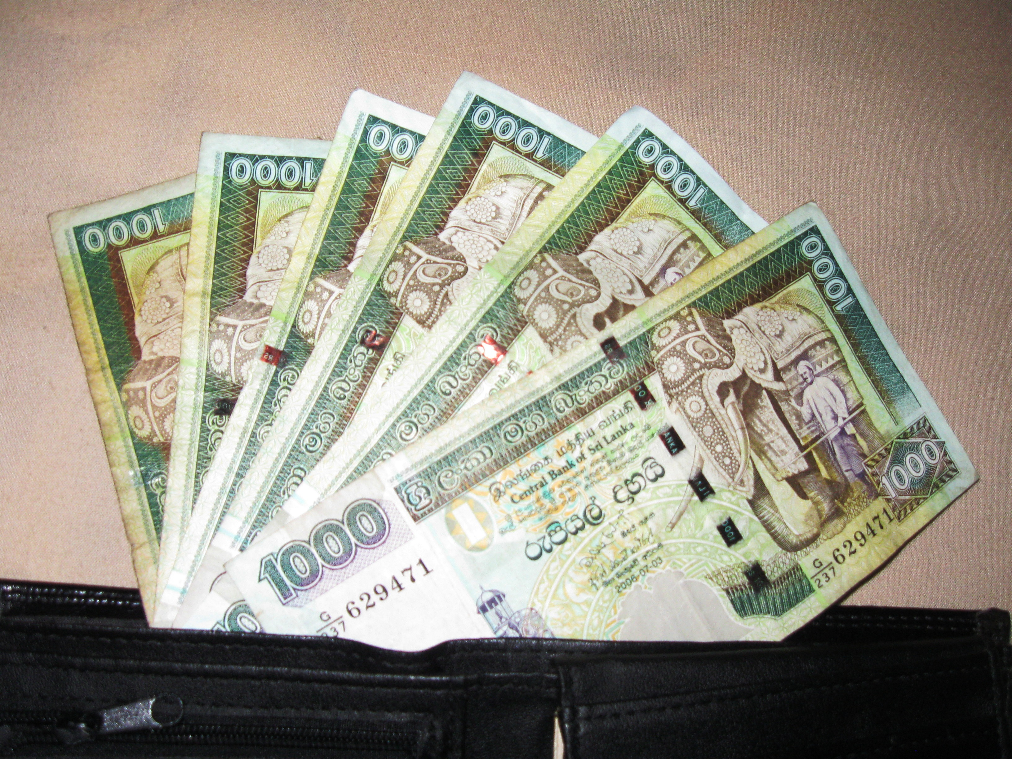 File Raja Elephant In Sri Lankan Ru Bank Notes Jpg