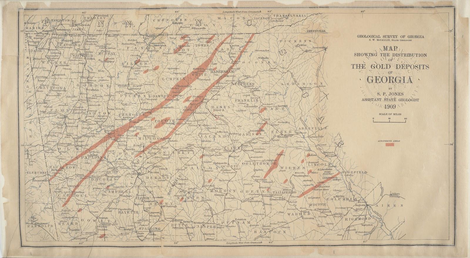 Map Of Georgia 2017.File Georgia Gold Rush Deposits Geological Survey Map Jpg Wikipedia