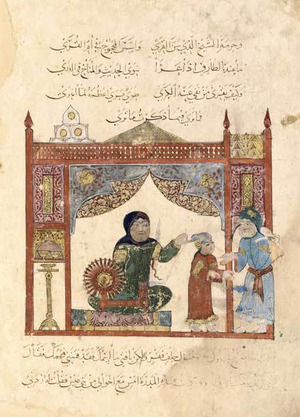 Illustration of al-Hariri Maqamat spinning wheel.jpg