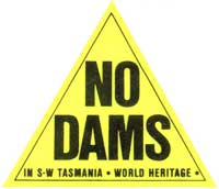 No Dams In SW Tasmania World Heritage Triangle Sticker.jpg